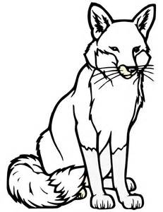 Fox Template Animal Templates Free Premium Templates White Fox Coloring Page