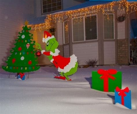 easy homemade outdoor christmas decorations yard decorations ideas www indiepedia org