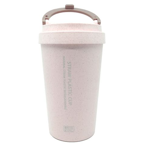 botol minum coffee cup 400ml pink jakartanotebook