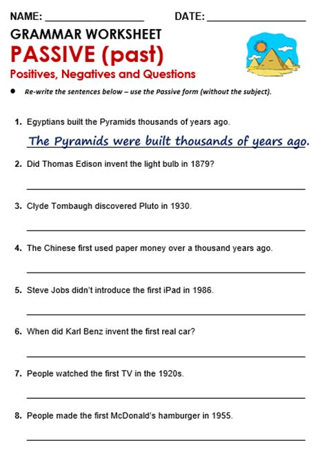 pattern of simple past active and passive passive all things grammar