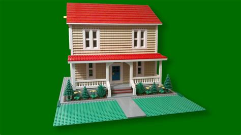 how to make a lego house custom build lego simple farm house cc youtube