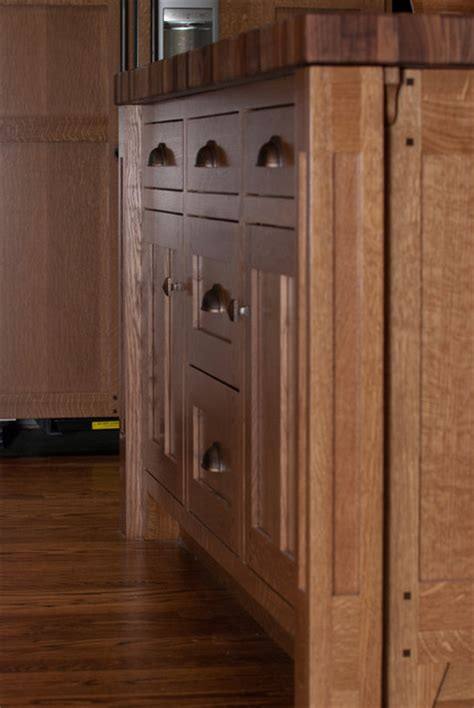 quarter sawn white oak kitchen