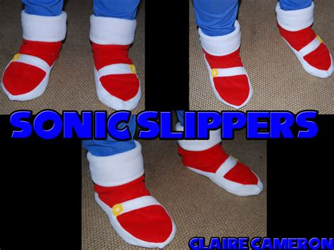 Sonic Slippers By Vixen T Fox On Deviantart