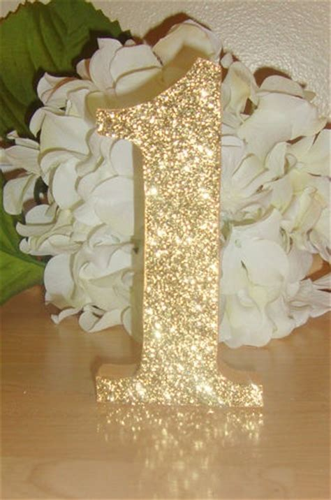 Details about Self Standing Glitter Table Numbers Wedding
