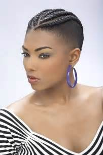 hair braided on the top but cut on the side braids for black women with short hair short hairstyles