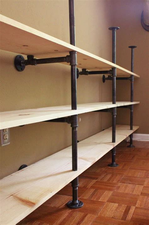 pipe shelving unit side view of the plumbing pipe self unit home diy