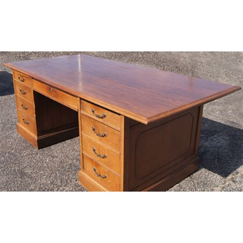 Vintage Mid Century Modern Jasper Traditional Wood Desk Ebay Jasper Desk