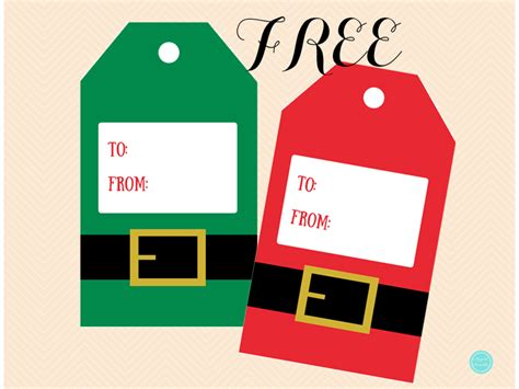 printable elf gift tags free christmas santa elf gift tags magical printable