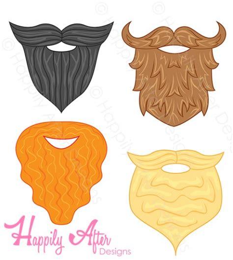printable beard mask beard printable photo props