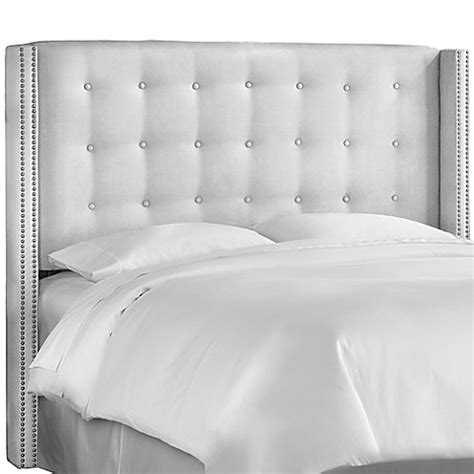 skyline nail button headboard skyline nail button tufted wingback headboard in premier