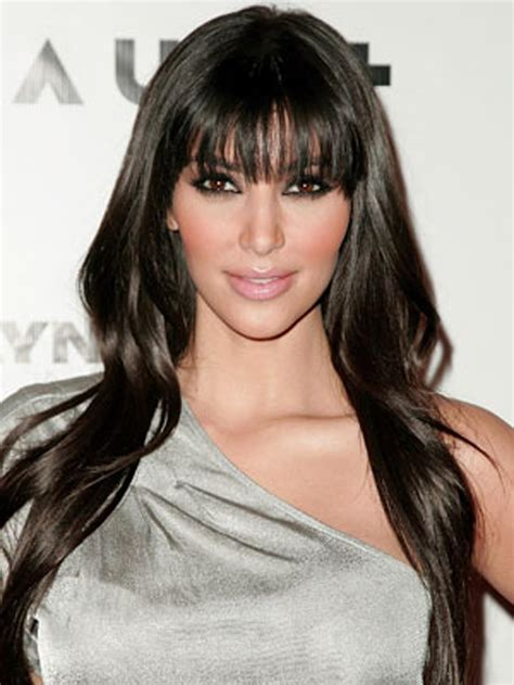 modern long side bangs hairstyles with black hair color
