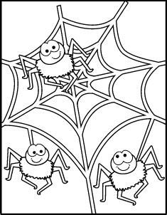 happy spider coloring page halloween spider coloring pages with broom