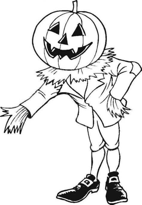 enchanted scarecrow coloring pages hellokids com