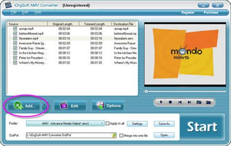 format video amv amv converter convert video files to amv and mtv format