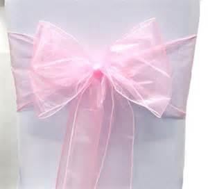 pink chair sashes organza chair sashes pink 8 x 108 wedding birthdays