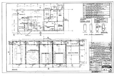 layout of building and equipment bar 1 dew line archive blueprints