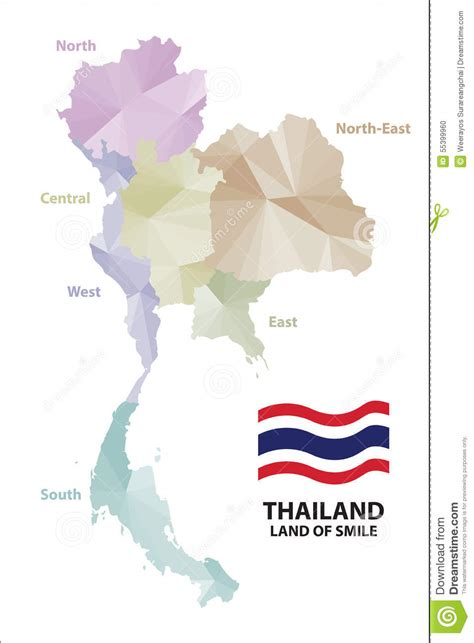 thailand map vector free map thailand stock vector image of template stylish