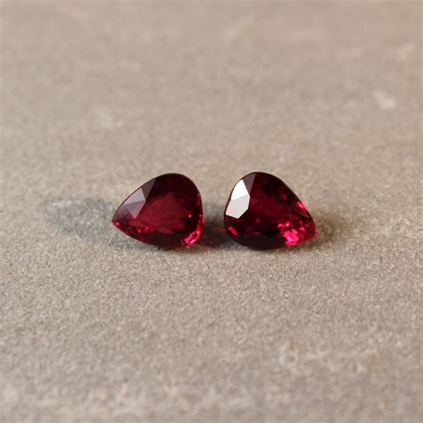 4 02 Ct Ruby Mozambique 4 02 ct pear shape ruby pair haruni gems