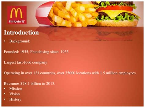 mcdonalds powerpoint template mcdonald presentation