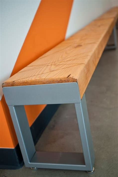 adjustable bench feet hand crafted recycled wood and metal scratch bench with