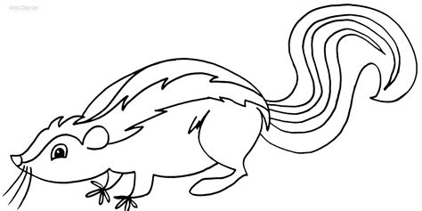 printable skunk coloring pages for kids cool2bkids