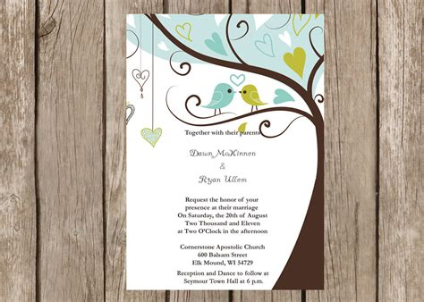 wedding invitations birds 6 best images of wedding bird template printable birds wedding invitation templates