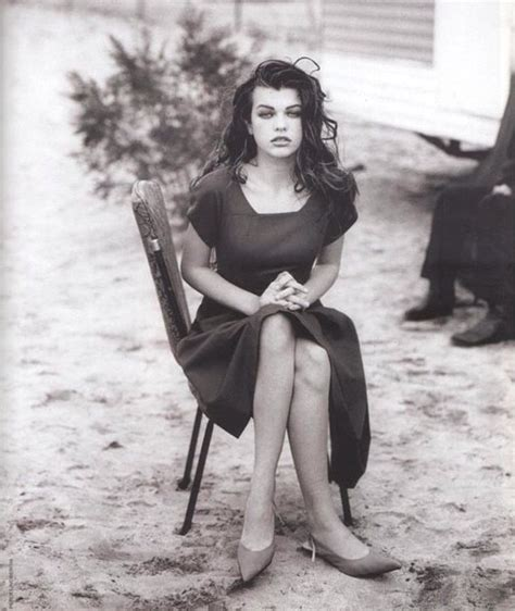 milla jovovich old model and actress milla jovovick 14 years old at the time