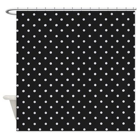 black polka dot shower curtain black and white polka dot shower curtain by admin cp119312604