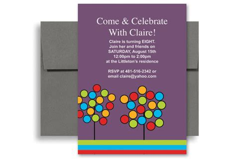 Create Your Own Microsoft Word Birthday Invitation 5x7 In Vertical Kid 1089 Designbetty Microsoft Word Birthday Invitation Templates