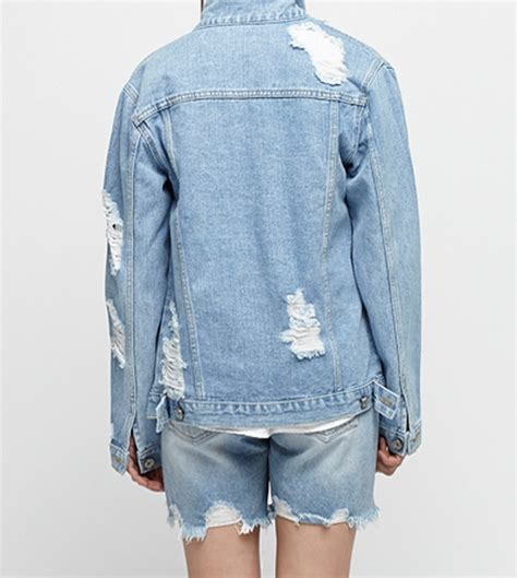 light wash distressed denim blackfit light wash distressed denim jacket kstylick