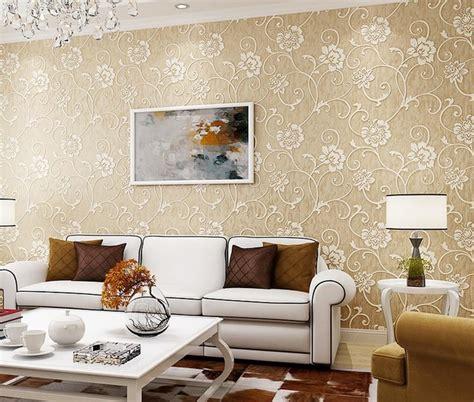 Wallpaper Dinding Minimalis Bahan Tebal Motif Timbul Emboss wallpaper ruang tamu 2017 desainrumahid
