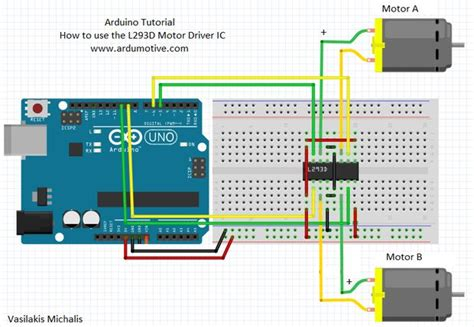 motor driver l293 how to use the l293d motor driver ic codebender s