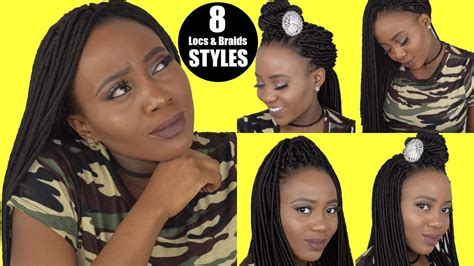 loc style tutorial 8 faux bangs styles youtube 8 crochet braid hairstyles faux locs youtube