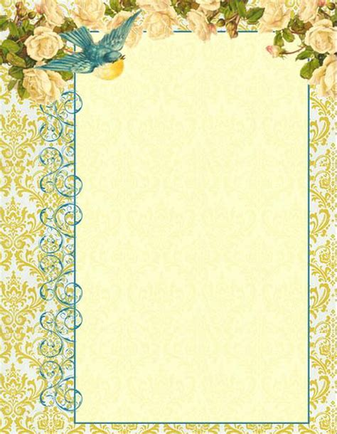 free printable antique stationary antique images digital printable letterhead stationary