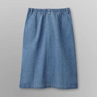 s button front denim skirt clothing