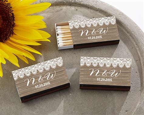 Wedding Box Matches by Personalized Black Wedding Matchboxes Country My