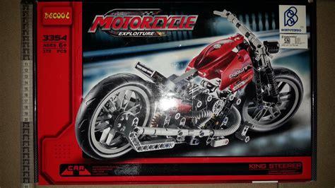 Lego Rescue Car Exploiture 3344 jual decool 3354 technic harley motorcycle bricks