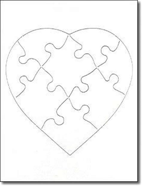 printable heart puzzle template blank jigsaw puzzle 6 x 8 8 piece heart pictures