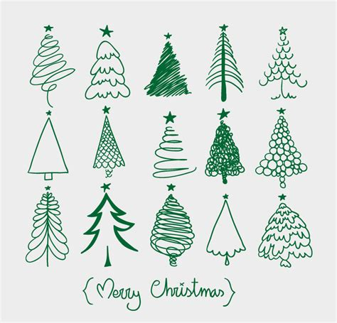 15 of the christmas tree design vector fifteen christmas