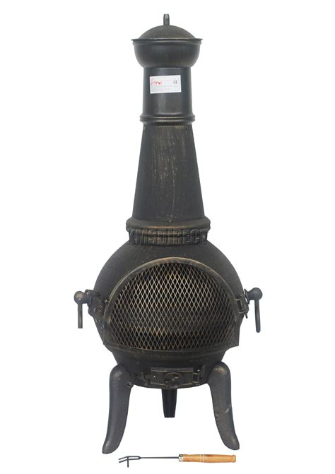 chiminea steel foxhunter gold cast iron steel chimenea chiminea chimnea