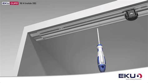 ante scorrevoli a soffitto eku clipo 16 legno l originale soluzione per ante