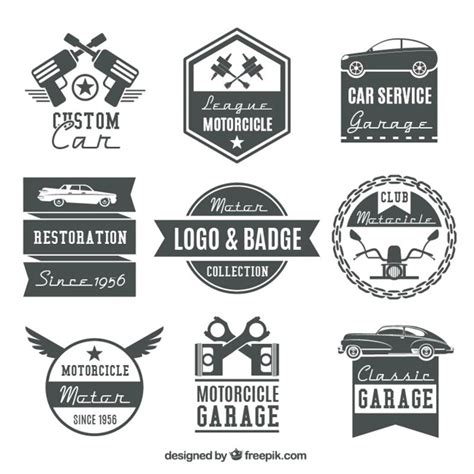 Motorrad Classic Design by Collection Of Vintage Motorcycle Logos And Badges Vector