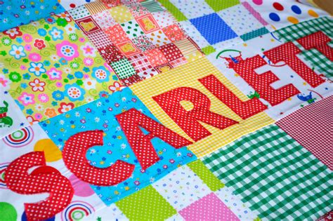 Baby Patchwork Quilt Kits Uk - patchwork baby quilt baby blanket personalised baby quilt
