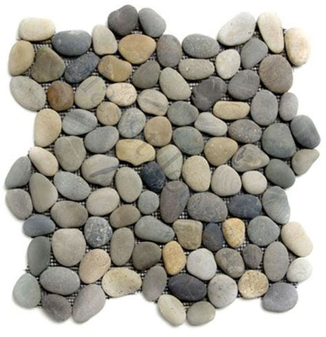 How To Lay Floor Tile In A Bathroom - shower floor tiles chateau pebbles amp stones grey river rock tiles tumbled natural stone for