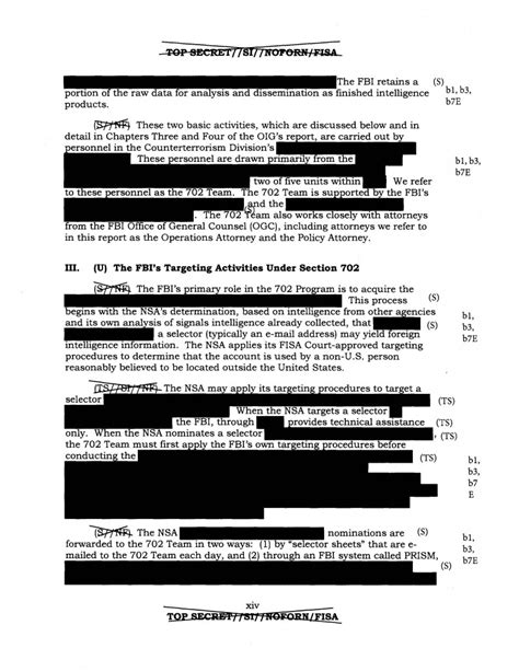 section 702 of fisa doj inspector general report on fbi surveillance under