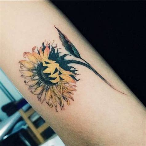 sunflower tattoos for women ideas and designs for girls