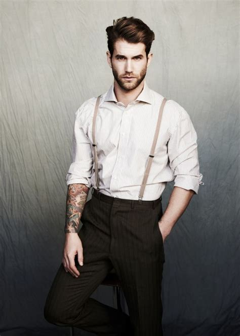 suspender tattoo michael brus captures andr 233 hamann in dapper styles