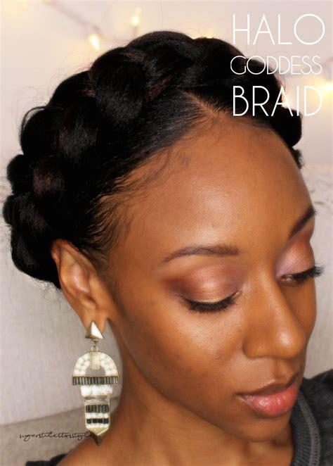 black hair goddess style halo goddess braid sugar stilettos style do your quot do