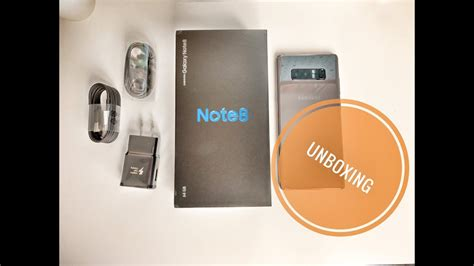 Samsung Note 8 Orchid Grey samsung galaxy note 8 orchid gray unboxing