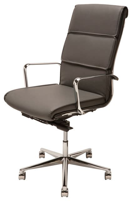 houzz office chairs nuevo living lucia high back office chair reviews houzz